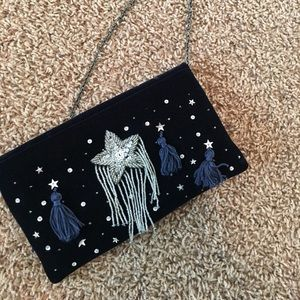 STARS VELVET PURSE/ CLUTCH/ CROSS-BODY BAG 💫